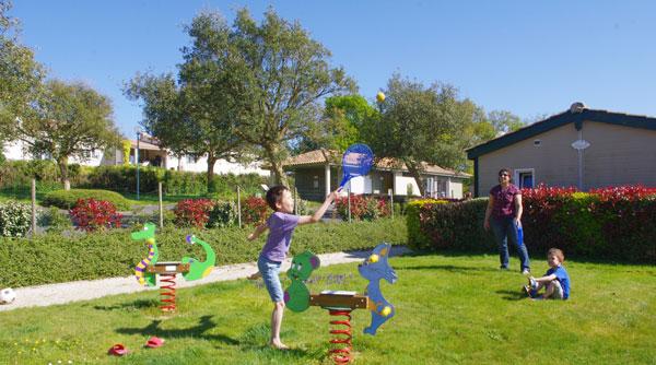 l'aire de jeux du camping en Vendée