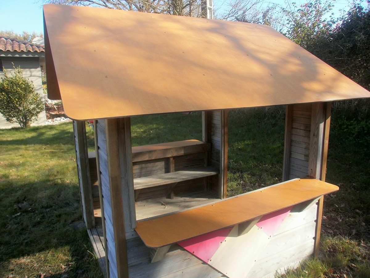 cabane pour les enfants du camping les Ouches